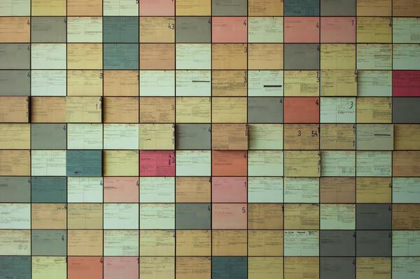 Collage aus Karteikarten zu den Ermittlungen gegen RSHA-Angehörige | © Frahm (Hamburg)