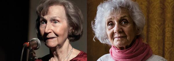 Zofia Posmysz, polnische Überlebende von Auschwitz, und Eva Fahidi, jüdisch-ungarische Auschwitz-Überlebende | © Internationales Auschwitz Komitee