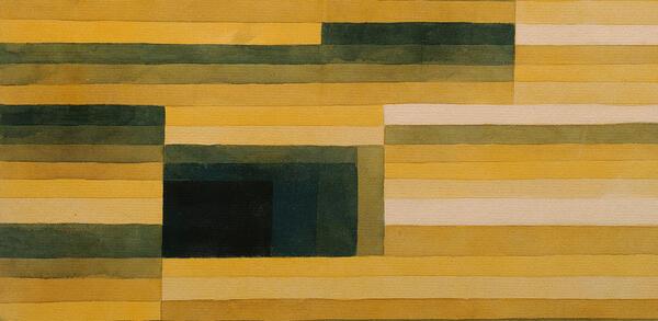 Paul Klee (18.12.1879 - 29.6.1940), Felsenkammer, Aquarell und Bleistift auf Papier auf Karton, 1929 | © Staatliche Museen zu Berlin, Nationalgalerie, Museum Berggruen / Jens Ziehe