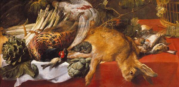 Frans Snyders: Stilleben mit Jagdbeute, Früchtekorb und Gemüse, um 1620 | © Staatliche Museen zu Berlin, Gemäldegalerie / Jörg P. Anders