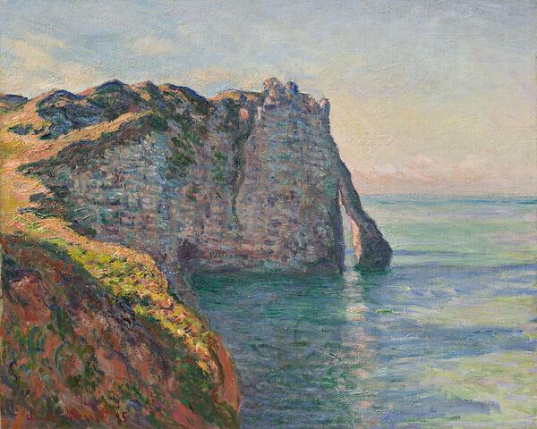 Claude Monet: Steilküste von Aval, 1885, | Privatsammlung / Private collection | general_use