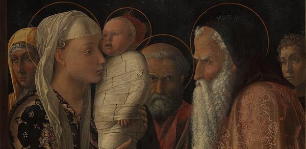 Andrea Mantegna: Darbringung im Tempel | © Staatliche Museen zu Berlin, Gemäldegalerie / Christoph Schmidt