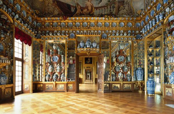 Porzellankabinett im Schloss Charlottenburg   © SPSG / Foto: Roland Handrick