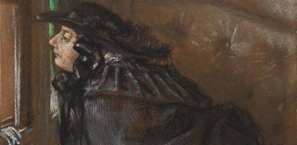 Adolph Menzel, Dame im Coupé, Detail, 1859 | © Staatliche Museen zu Berlin, Kupferstichkabinett / Dietmar Katz