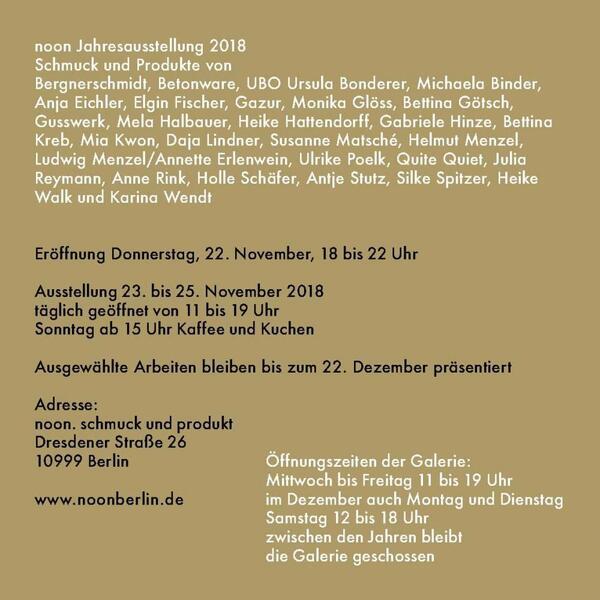 Flyer Einladung Bauhaus | noon.schmuck und produkt