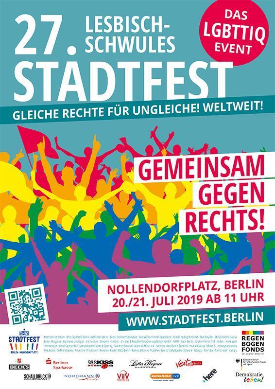 Plakat 27. Lesbisch-Schwules Stadtfest | Stadtfest