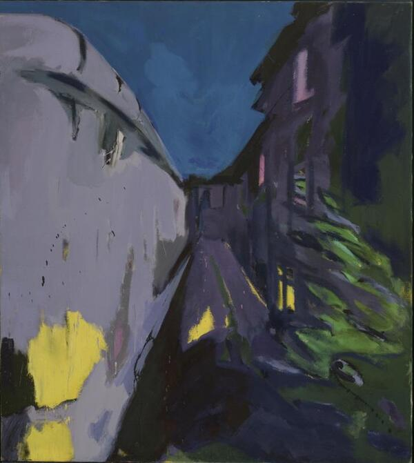 Mauer, 1978, Kunstharz auf Leinwand | Rainer Fetting
