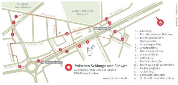 Zwischen Schlange und Schwan. Audiospaziergang über das Leben in DDR-Baudenkmälern