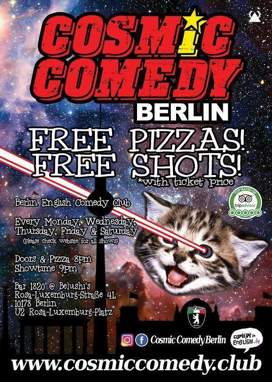 Cosmic Comedy Showcase – English Comedy Berlin