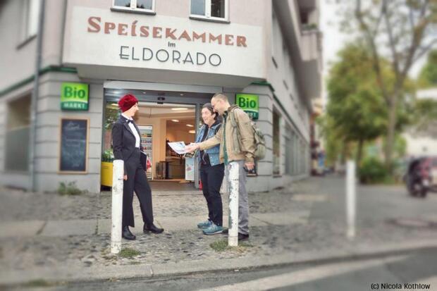 Wildes Berlin der 20er – Szenische Stadt-Verführung rund um den Nollendorfplatz mit Anita Berber