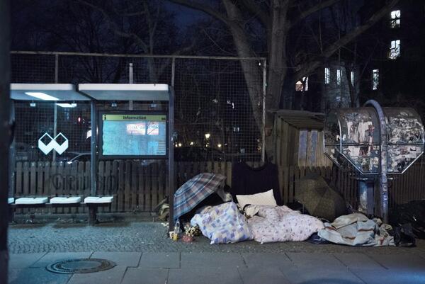 Kottbusser Straße, Kreuzberg, nur der Nachtbus hält hierFoto: Robin Thießen